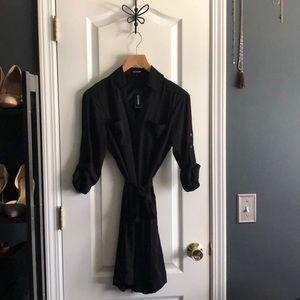 Express Shirt Dress. Black button up. Size XS.